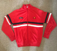 Men's ellesse tracksuit top Red Navy and White Size Small