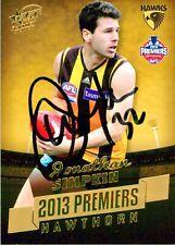 ✺Signed✺ 2013 HAWTHORN HAWKS AFL Premiers Card JONATHAN SIMPKIN