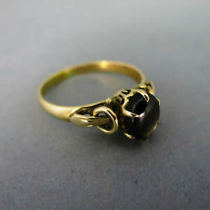 Golden Women's Ring With Star Sapphire