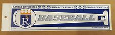 Kansas City Royals Vintage 1990's Baseball Bumper Sticker Tag Express USA