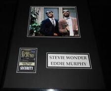 Stevie Wonder & Eddie Murphy Dual Signed Framed 16x20 Photo Display