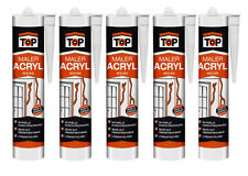 Bauacryl Acryl 5 x 300ml weiß EUR 7,32/ltr Dichtmasse TOP Maleracryl Fugendicht