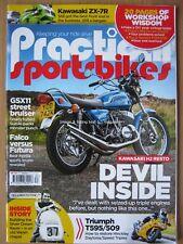 Practical Sportsbikes September 2017 Kawasaki ZX-7R H2 Triumph T595 509 FZR600R