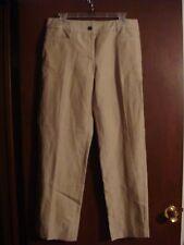 Trixie + LULU Petite 12P Beige Tan Pin Stripe $36 Career Wear Dress Pants Slacks