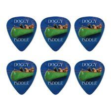 Doggy Dog Paddle Canoe Dogs Novelty Guitar Picks Medium Gauge - Set of 6