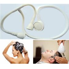 Hairdressers Rain Shower Spray Head And Hose Set Basin Utility White Round Soft