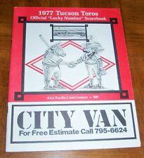 VINTAGE 1977 TUCSON TOROS PROGRAM  - AFFILIATE OF OAKLAND A's -EXTREMELY RARE