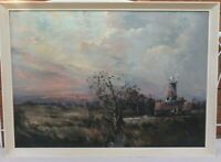 Alfred W. Saunders - 20th Century Original  Oil Painting of Cley Mill Norfolk