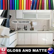 GLOSS MATTE WHITE BLACK VINYL WRAP FILM ROLL KITCHEN CUPBOARD DOORS AIR RELEASE