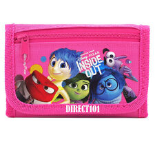 DIsney Pixar Inside Out Canvas Trifold Pink Wallet