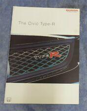 Honda Civic Type R Sales Brochure November 2003 For 2004  Models