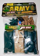 BAG LOT of 40 Plastic Military Toy Soldiers US Army Men Tanks Playset JA-RU