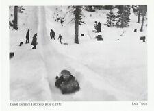 """*Postcard-""""Tahoe Tavern's Toboggan Run, 1930"""" -*Lake Tahoe (#403)"""