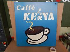 INSEGNA IN METALLO VINTAGE CAFFE' KENYA PROMO OLD BAR PER FAEMA GAGGIA PAVONI
