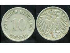 ALLEMAGNE 10 pfennig  1898 D