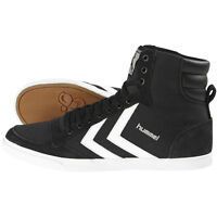 HUMMEL SLIMMER STADIL HIGH SCHUHE SPORT HIGH TOP SNEAKER BLACK WHITE 63-511-2113