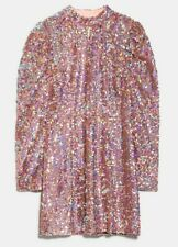 ZARA WOMAN NWT SALE! SEQUINS PINK MINI DRESS SIZE S REF: 2488/150