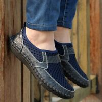 Plus Leather Casual Shoes Driving Loafers Elastic Slip On Flats Breathable Comfy