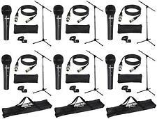 6 Sets LD Systems MICSET1 mit Handmikrofon, Stativ, 5m Mikrofonkabel + 3x Tasche