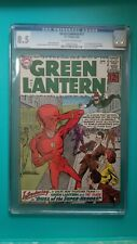 Green Lantern 13 CGC 8.5 1962 Gil Kane Art OW/W Pg First SA Flash Crossover
