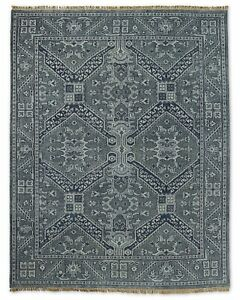 Restoration Hardware  Stratto Grey Hand Knotted Rug 6x9 Wool $2695 MSRP