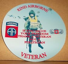 82nd airborne usa armed forces veteran 9cm vinyle autocollant personnalisé...