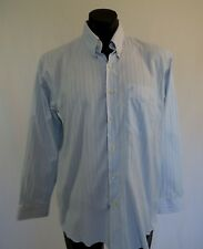 Charles Mendel Blue Striped Business Shirt - XL, 16.5 Neck
