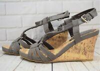 Womens Life & Sole Cork Wedge Mink Buckle High Heel Sandal Various Sizes! NEW