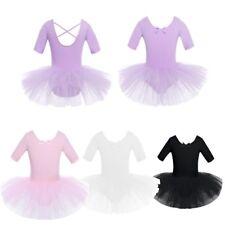 Girls Ballet Dance Dress Child Cotton Tulle Leotard Tutu Skirt Dancewear Costume