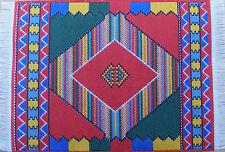 Escala 1:12 25cm X 14.5cm alfombra turca tejida de casa de muñecas en miniatura Alfombra P28m