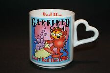 Garfield VALENTINE CAT Last of the Red Hot Lover Coffee Mug Heart Handle 1978