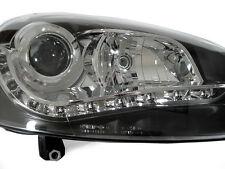 DEPO R8 DRL LED PROJECTOR BLACK HEADLIGHT 05-10 VW JETTA GOLF GTI Mk.V 5/RABBIT