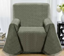 MATRIX THROW COVERS FOR CHAIRS---GREYISH GREEN---ALSO COMES IN BLUE & BROWN