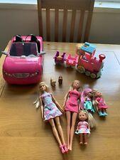 Barbie Chelsea und Steffi Puppe Bundle mit Zug und Auto