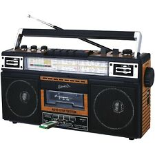 QFX J-220BT ReRun x Cassette Player Boombox with 4-Band Radio