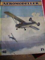 AEROMODELLER AUGUST 1949 MODEL AIRCRAFT C RUPERT MOORE SIRIUS CHRISLEA SUPER