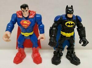 """Fisher Price Batman & Superman 5"""" tall"""