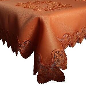 Tischläufer Mitteldecke Tischdecken Spitze Terracotta verschiedene Größen B