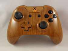 Wood Grain Hydro Dipped Wireless Controller - Orange LED - Rapid fire-Modded