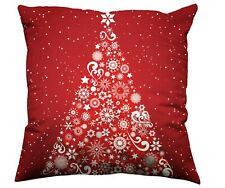 1x 45x45cm Sofa Cushion Cover Pillow Case Christmas Tree Xmas Decoration UK