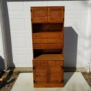 Ethan Allen Baumritter CRP Mid Century Heirloom Lower Cabinet & Upper Bookcase