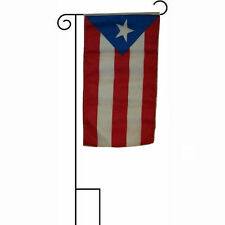 "12x18 12""x18"" Puerto Rico Royal Blue Sleeved w/ Garden Stand Flag"