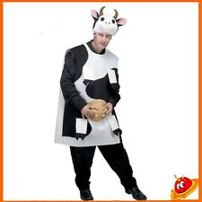 Costume Carnevale Halloween Uomo Mascotte Mucca Carolina Tg 52-54