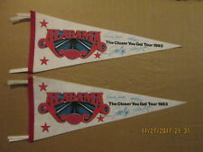 Alabama Lot of 2 The Closer You Get Tour 1983 Facsimile Autographed Pennants