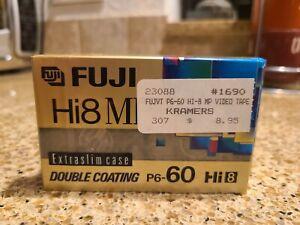 Two Unopened! FUJI Hi8 MP P6-60 Master Grade Videocassette Tape Double Coating