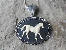 HORSE CAMEO NECKLACE - HORSE LOVERS GIFT - EQUESTRIAN - HORSE COLLECTOR