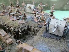 WW1 BRITISH ARTILLERY AND CREW WELL PAINTED AND DETAILED POSSIBLE WARGAMING