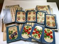 Lot of VTG Meyercord Decals TOO MANY TO COUNT!!! Flowers, Berries - Shabby Chic