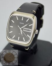 Mens's Fossil Watch, Rutherford Black Leather Watch FS5330, New