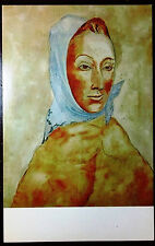 1960's Postcard Woman With a Kerchief by Pablo Picasso Virginia Museum Fine Arts